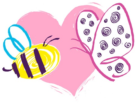 butterfly-heart-bee