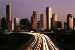 Houston Skyline at Dusk,Texas